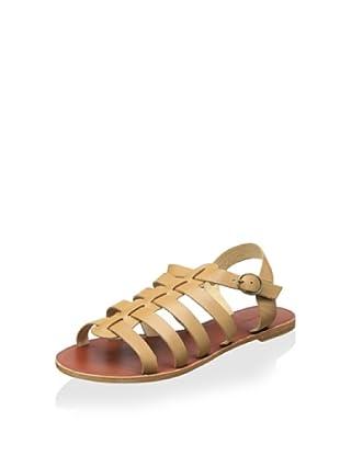 Matiko Women's Aya Flat Gladiator Sandal (Nude)
