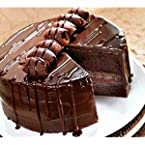 Chocolate Truffle EggLess Cake(1/2 KG.) with 1 flower