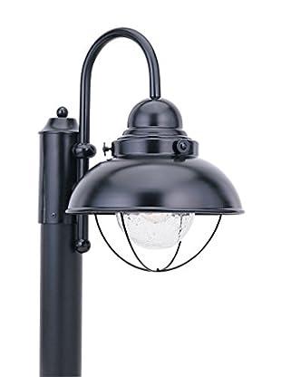 Seagull Lighting Sebring LED Outdoor Post Lantern, Black