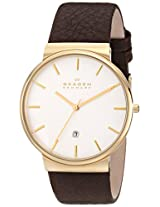 Skagen Ancher Analog White Dial Men's Watch-SKW6142