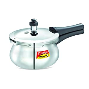 Prestige Deluxe Plus Baby Induction Base Stainless Steel Pressure Handi, 2 Litres