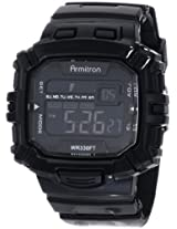 Armitron Sport Men's 40/8244BLK Black Rectangle Chronograph Digital Watch
