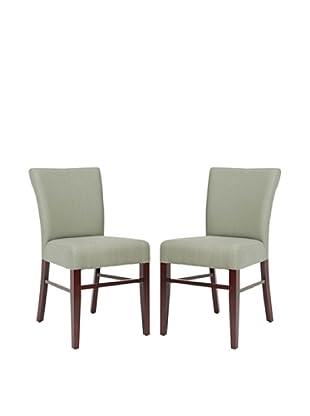 Safavieh Set of 2 Teagon Side Chairs, Sea Mist