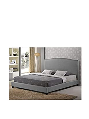Baxton Studio Aisling King Platform Bed, Grey