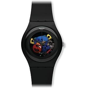 Swatch SUOB101 Unisex Watch-Black