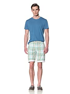Tailor Vintage Men's Reversible Short (Aqua Seersucker)