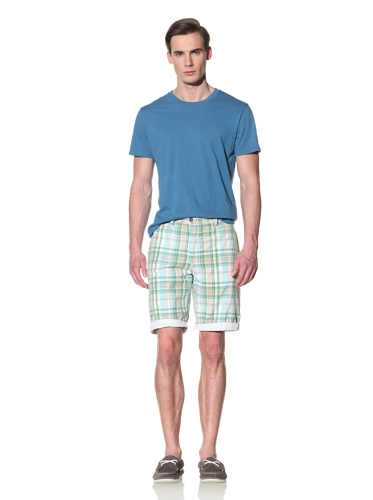 Tailor Vintage Men's Reversible Short (Aqua Seersucker)