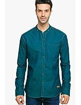 Green Regular Fit Casual Shirt Status Quo
