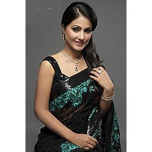 Heena khan designer tv serial saree