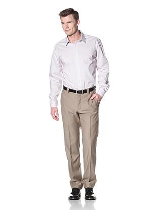 Incotex Ivory Men's Wool Flat Front Trouser (Camel)