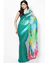 Chiffon Green Saree Satya Paul