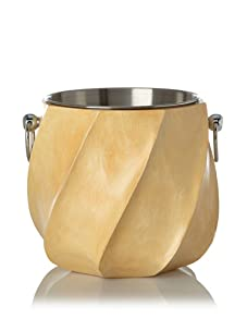 Zodax Mango Wood Champagne Cooler, Natural/Silver