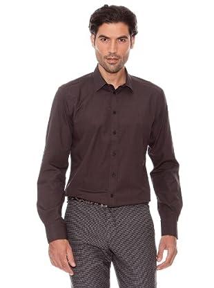 Pedro Del Hierro Camisa Lisa (Marrón Oscuro)
