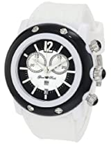 Glam Rock Women's GRD25106 Miami Beach Chronograph Silver Textured Dial Black Silicone Watch