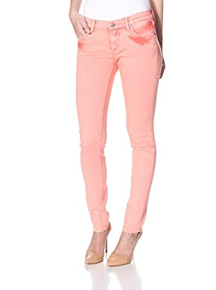 Driftwood Women's Ocean Wash Skinny Jean (Orange)