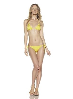 D&G Women's Triangle Bikini Top & Bottoms (Yellow)