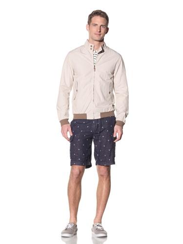 Barque Men's Cotton Fine Stripe Barracuda Jacket (Khaki)
