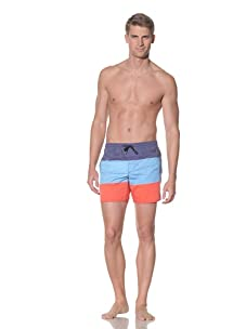 Rhythm Men's Tri Jam Swim Short (Blue/Light Blue/Coral)