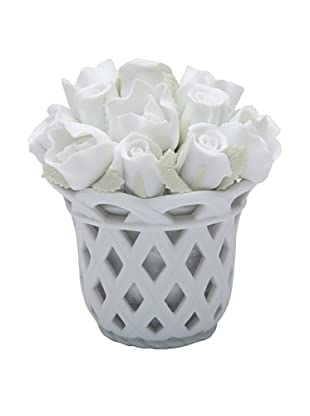 Perfect Wedding Rose Porcelain Musical Bouquet