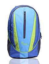 F Gear Flame V2 Blue Green Rugged Base Laptop Backpack