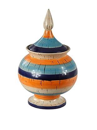 Privilege Large Ceramic Jar, Multi