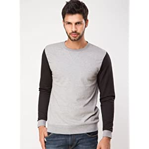 KOOVS Mesh Sleeve Sweatshirt