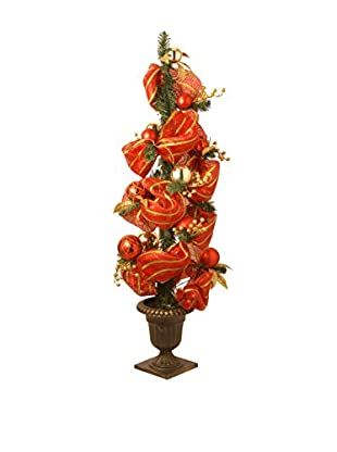 National Tree Company 4' Decorative Collection Red Ribbon