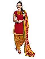 atisundar wonderful Red Patiala Suits- 7083_47_8014