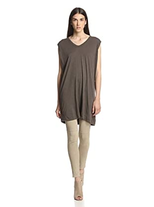 Rick Owens Lilies Women's Wide Shoulder Top (Dark Dust)
