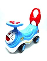 Little Leaf Doraemon Blue Cat Push Along Ride on Swing Car Gift Toy for Kids