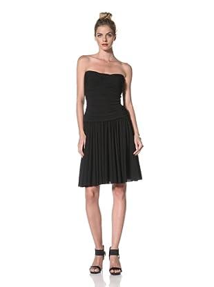 Norma Kamali Women's Walter Flared Dress (Black)