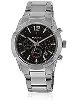 13668Js/02M Silver/Black Chronograph Watches