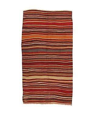 Design Community By Loomier Teppich Kilim Caucasico dunkelrot /mehrfarbig 135 x 258 cm
