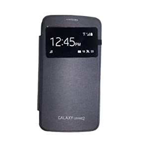 NKCreations S View Flip Cover Case for Samsung Galaxy Grand 2 G7102/G7100 (Black)