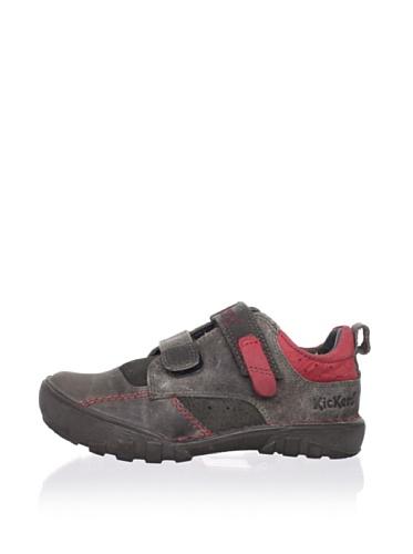 Kickers Kid's Rambo Sneaker (Toddler/Little Kid) (Grey/Red)