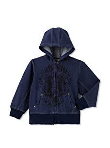 Kapital K Boy's French Terry Printed Jacket (Indigo Denim)