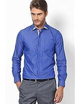 Solid Blue Formal Shirt