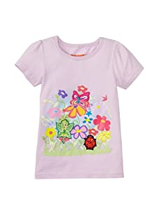 SwitchittZ Girl's Enchanted Garden Tee (Purple)