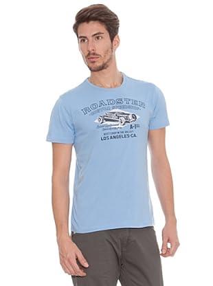 Timeout Camiseta Print Frontal (Azul)