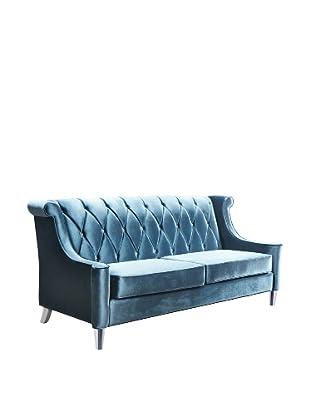 Armen Living Velvet Barrister Sofa, Blue