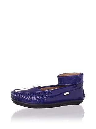 Venettini Kid's Tulip Ankle-Strap Moc (Toddler/Little Kid/Big Kid) (Cobalt Patent)