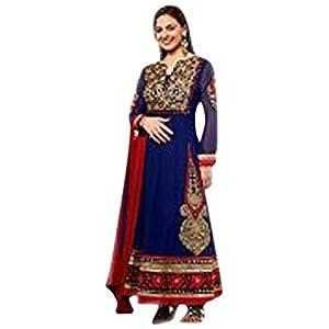 Navy Blue Georgette Event Wear - Isha Deol Designer Anarkali Suit