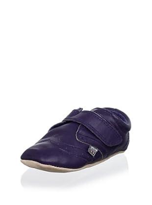 Melton Kid's Hook-and-Loop Arrow Shoe (Navy)
