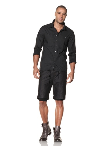 Nicholas K Men's Tator Lightweight Woven Shirt (Black)