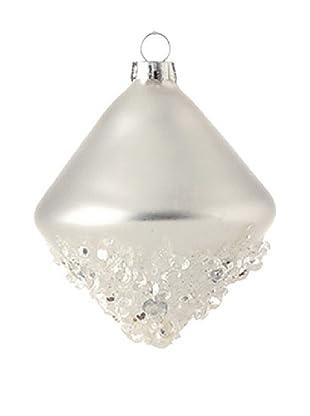 Raz White Iced Kismet Ornament