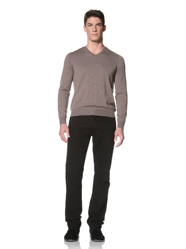Cullen Men's V-Neck Sweater (Toast)