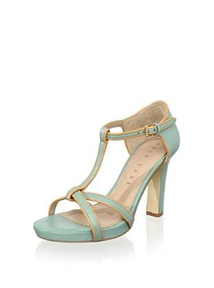 Lola Cruz Women's T-Strap Sandal (Menta)