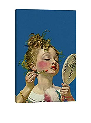 Norman Rockwell Little Girl with Lipstick Giclée Print