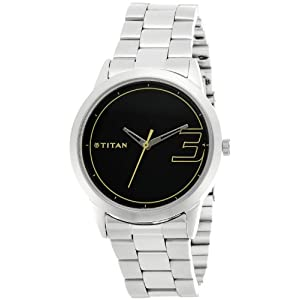 Titan Youth Analog Black Dial Men's Watch - NE1584SM02