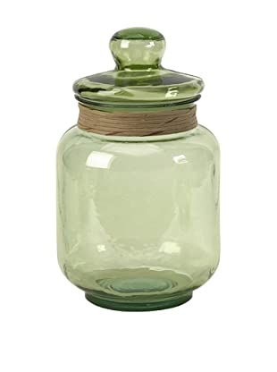 Sanzio Recycled Glass Canister, Medium